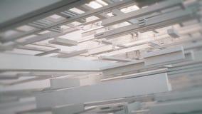 Geometriska linjer med ljus färg och mjuka kanter stock video