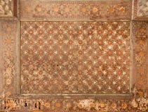 Geometriska modeller av taket i gammal persisk slott Royaltyfri Fotografi