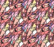 Geometriska modeller för handattraktionfärgpulver Färgrika bakgrunder för trendabstrakt begreppmosaik Vektorillustration i skuggo Royaltyfri Fotografi