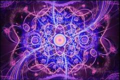 Geometriska modeller kan illustrera att dagdrömma psykedeliska utrymmedrömmar för fantasi och magiskt universum Royaltyfri Bild