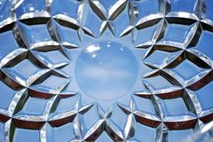 Geometriska modeller på exponeringsglaset Royaltyfri Fotografi