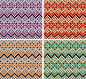 geometriska modeller seamless texturvektor Royaltyfri Fotografi
