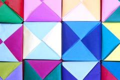 Geometriska origamidesigner. Royaltyfria Foton