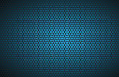 Geometriska polygoner bakgrund, blå metallisk tapet för abstrakt begrepp Royaltyfri Bild
