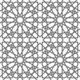 Geometriska prydnader för islamisk vektor som baseras på traditionell arabisk konst Orientalisk Seamless modell Turk arabisk tege royaltyfri illustrationer
