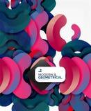 Geometriska runda former för abstrakt färg på vit Fotografering för Bildbyråer