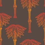 Geometriska sömlösa palmträd för afrikansk blomma Stock Illustrationer