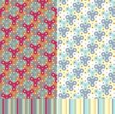Geometriska seamless mönstrar Royaltyfria Bilder