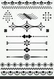 Geometriska sidagarneringar Royaltyfri Foto