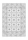 Geometriska teckningar av en matta Arkivfoton