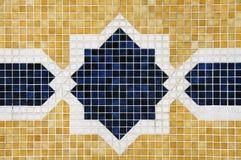 geometriska tegelplattor för bakgrundsfärggarnering Arkivbilder