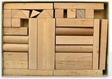 Geometriska Toy Building Shapes Arkivfoto