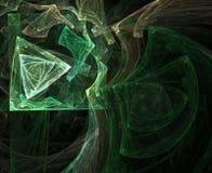 geometriska trianglar stock illustrationer