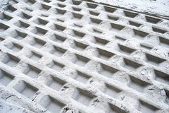 geometriska tryck sand white Arkivfoton