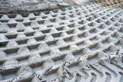 geometriska tryck sand white Royaltyfri Fotografi