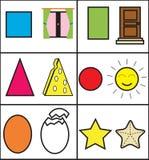 geometriska ungar vektor illustrationer