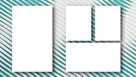 Geometriskt abstrakt begrepp för mallen för affärspapper skissar blåttkurvan vektor illustrationer