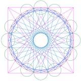 Geometriskt abstrakt begrepp för vektor Arkivbilder