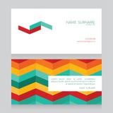 Geometriskt affärskort med sparremodellen vektor illustrationer