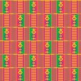 Geometriskt afrikanskt tryck Torkdukekente seamless modell vektor illustrationer