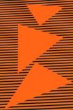 Geometriskt apelsinabstrakt begrepp Arkivbild