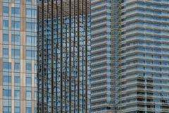 Geometriskt arkitektoniskt abstrakt begrepp Arkivbild