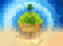 Geometriskt begrepp av ekologi av planetjorden Royaltyfri Foto