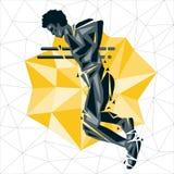 Geometriskt Crossfit begrepp royaltyfri illustrationer