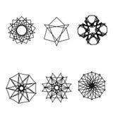 Geometriskt emblem för astrologi för pentagram för modellsymbolsstjärna vektor illustrationer