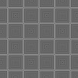 Geometriskt foder för svartvit sömlös modell royaltyfri fotografi