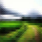 Geometriskt grönt landskap royaltyfri illustrationer