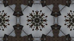 Geometriskt kalejdoskopiskt för mosaisk fractal vektor illustrationer