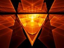 geometriskt perspektiv stock illustrationer
