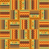 Geometriskt sömlöst tyg för etniskt prydnadabstrakt begrepp stock illustrationer