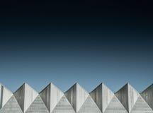 Geometriskt stads- landskap Arkivfoto