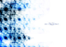 Geometriskt teknologiskt reflekterat blått triangelabstrakt begrepp Arkivbilder