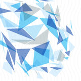 Geometriskt vektorabstrakt begrepp 3D försvårade bakgrunden för op konst, den begreppsmässig illustrationen för tech som eps10 va Royaltyfria Bilder