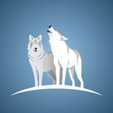 Geometriskt wolfs Royaltyfri Illustrationer