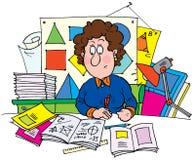 Geometry. Clip-art (illustration) for your design, scrapbook, album, postcard, cover, etc Royalty Free Stock Photos