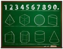 Geometry. Draw blackboard in school Stock Photos