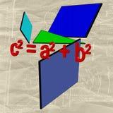 Geometry and algebra royalty free illustration
