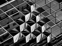 Geometry in architecture in black and white, detail Royalty Free Stock Photography