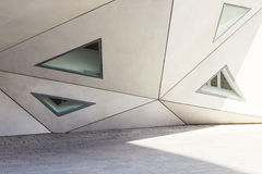 Geometry in architecture, part of the facade of the building, tr Stock Photo