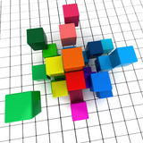 Geometry background. 3D rendering of a geometric cubic background Stock Images