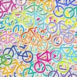 Geometry background bicycle Royalty Free Stock Image