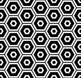 Geometry black and white hipster fashion pillow hexagon pattern. Abstract geometry black and white hipster fashion pillow hexagon pattern Stock Photography