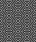 Geometry black and white hipster fashion pillow hexagon pattern Royalty Free Stock Photo