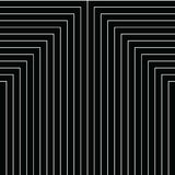 Geometry black and white stripes grid pattern. Vintage style texture. Vector. Gatsby geometric pattern in black and white Stock Photo