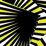 Geometry of black and yellow Stock Image
