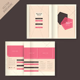 Geometry brochure design with line and grid Stock Image